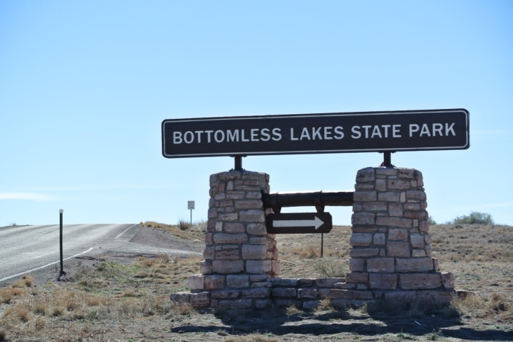BOTTOMLESS STATE PARK OUTSIDE OF ROSWELL.